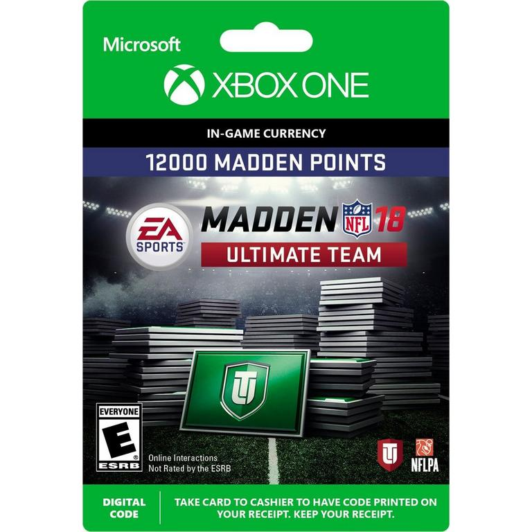 Madden NFL 18 12,000 Ultimate Team Points