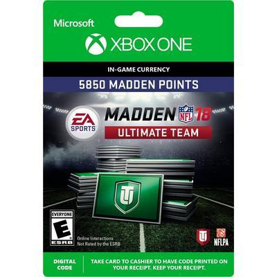 Madden NFL 18 5850 Ultimate Team Points Digital Card