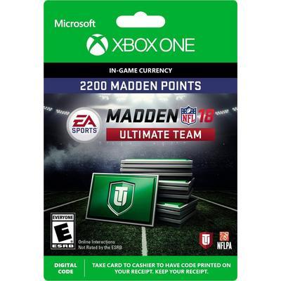 Madden NFL 18 2200 Ultimate Team Points Digital Card