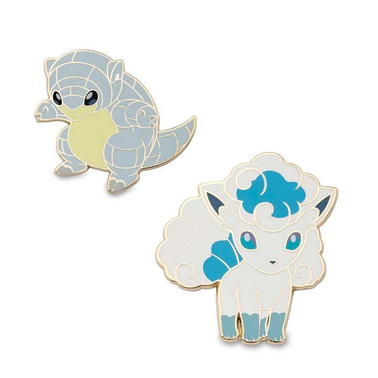 Pokemon Alolan Sandshrew and Alolan Vulpix Pins
