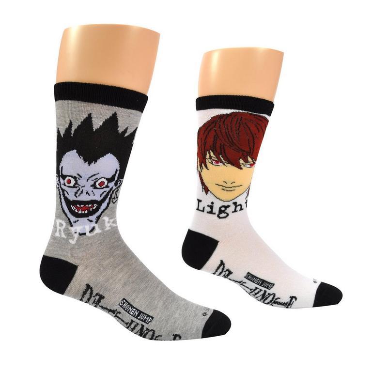 Death Note Ryuk and Light Unisex Crew Socks 2 Pack