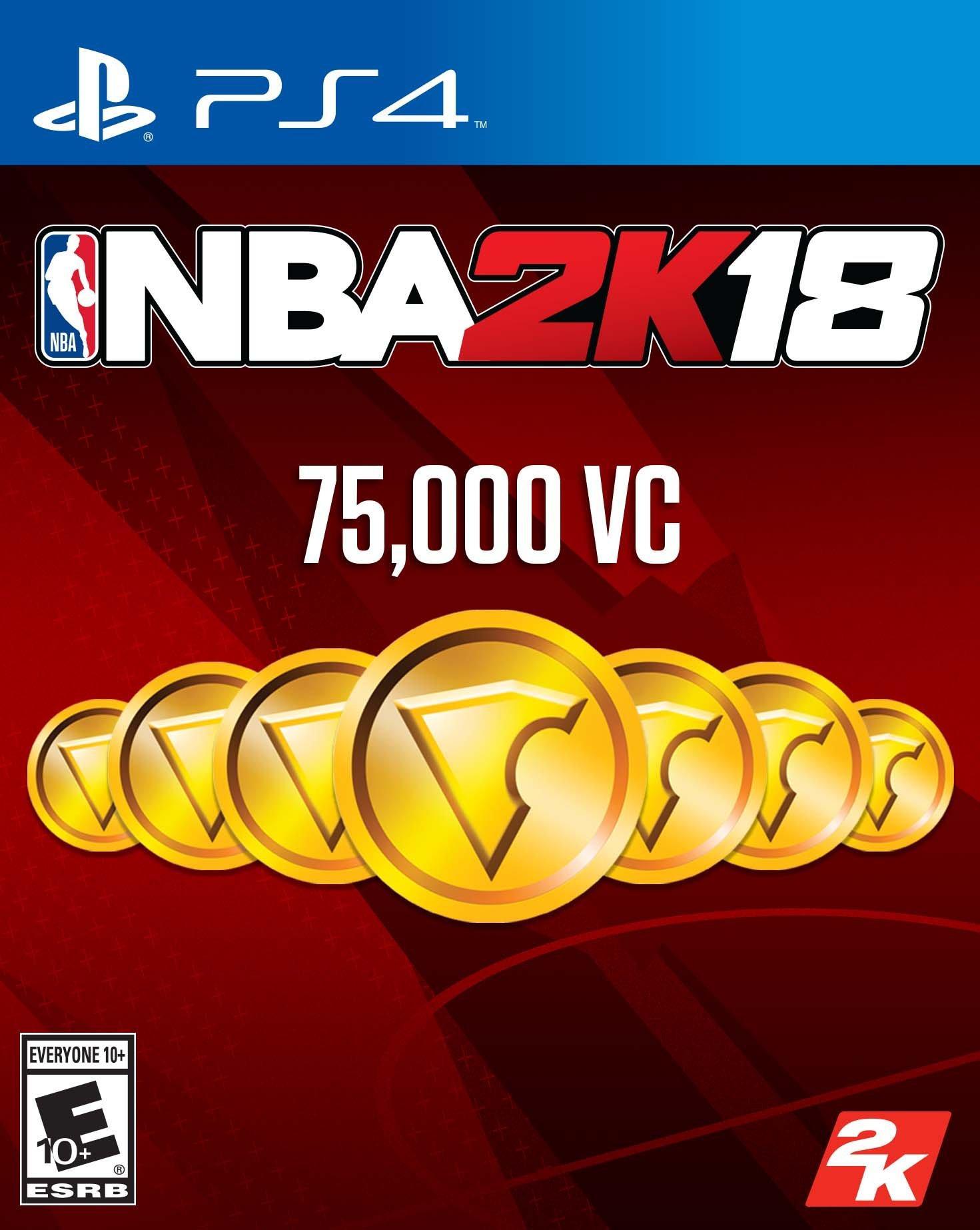 NBA 2K18 75000 Virtual Currency Digital Card   PlayStation 4   GameStop