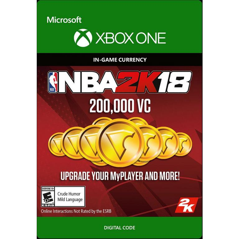 NBA 2K18 200000 Virtual Currency Digital Card