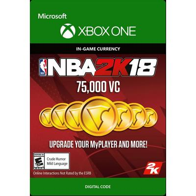 NBA 2K18 75000 Virtual Currency Digital Card