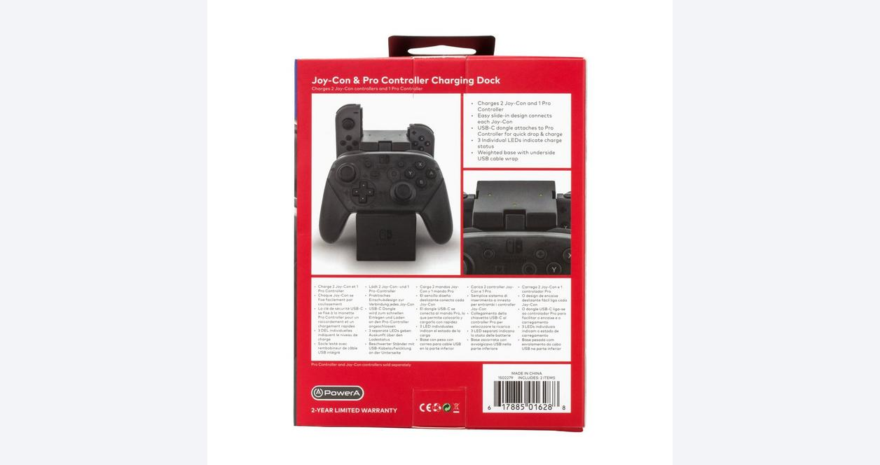 Nintendo Switch Joy-Con and Pro Controller Charging Dock Black