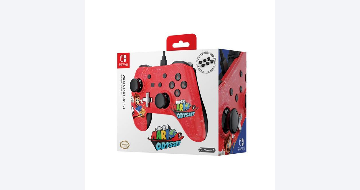 Super Mario Bros. Red Wired Controller Plus for Nintendo Switch