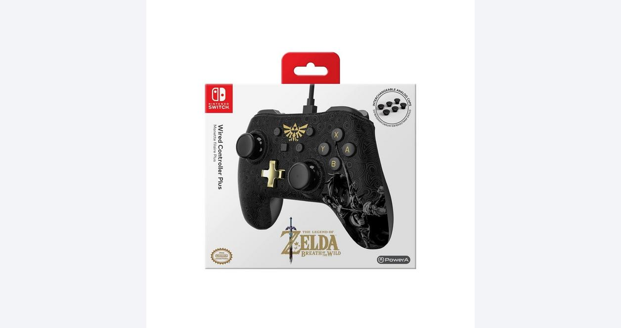 The Legend of Zelda: Breath of the Wild Wired Controller Plus for Nintendo Switch