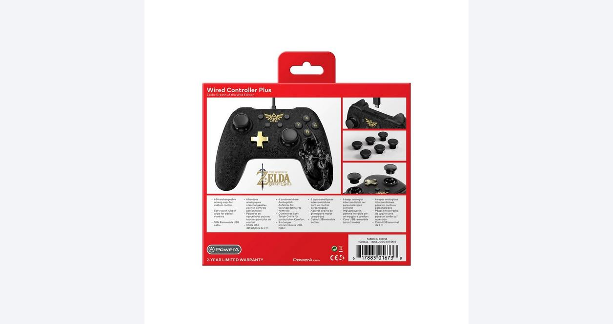 Nintendo Switch Wired Controller Plus The Legend of Zelda: Breath of the Wild