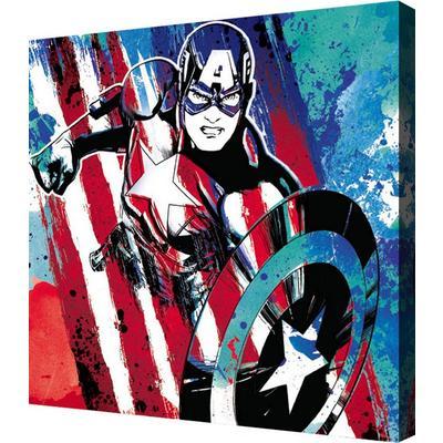 Captain America Stripe Mini Canvas