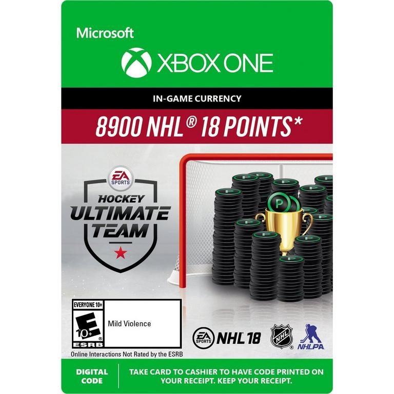 NHL 18 8,900 Ultimate Team Points