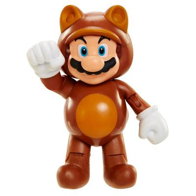 World of Nintendo 4 inch Figure - Tanooki Mario with Coin