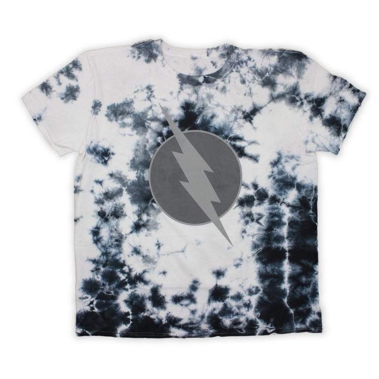 DC The Flash Logo Distorted Black Wash T-Shirt