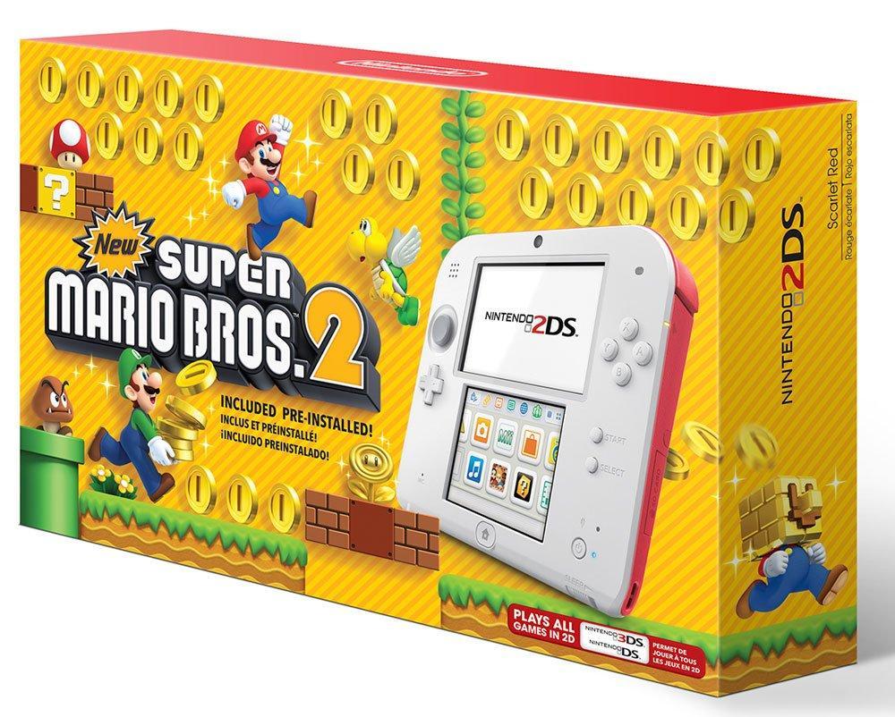 Nintendo 2ds New Super Mario Bros 2 Scarlet Red Bundle Nintendo