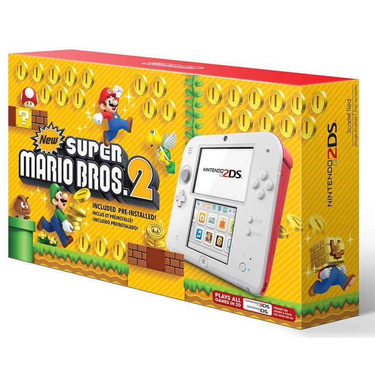 Nintendo 2DS New Super Mario Bros. 2 Scarlet Red Bundle