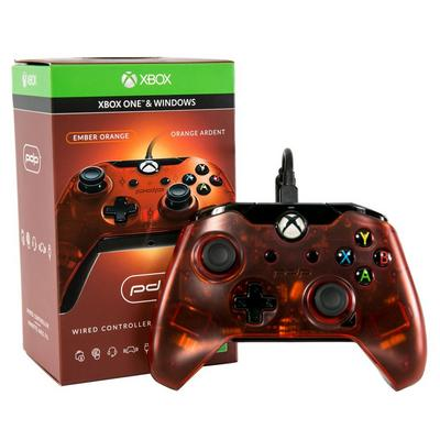 Xbox One Ember Orange Wired Controller
