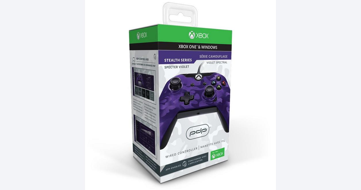 Xbox One Purple Camo Wired Controller