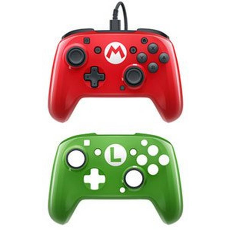 Nintendo Switch Faceoff Wired Pro Controller Mario and Luigi Deluxe Edition