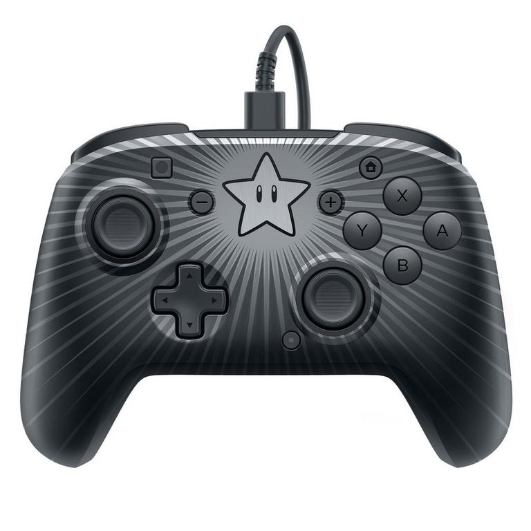 Nintendo Switch Face-Off Wired Pro Controller Super Mario Star