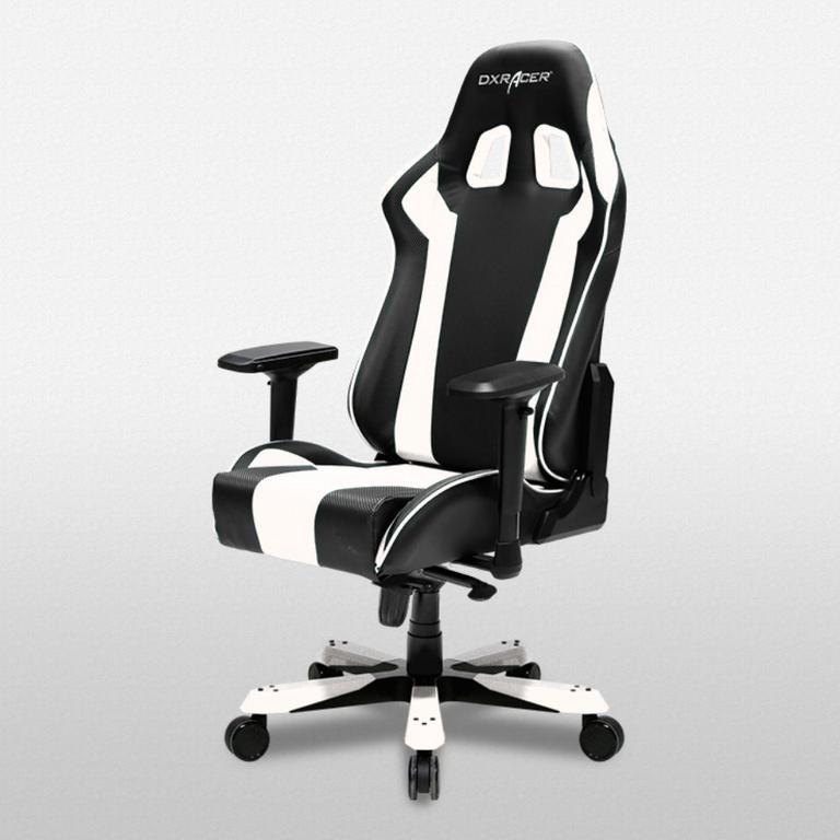 DXRacer King Series Black and White - OH/KS06/NW