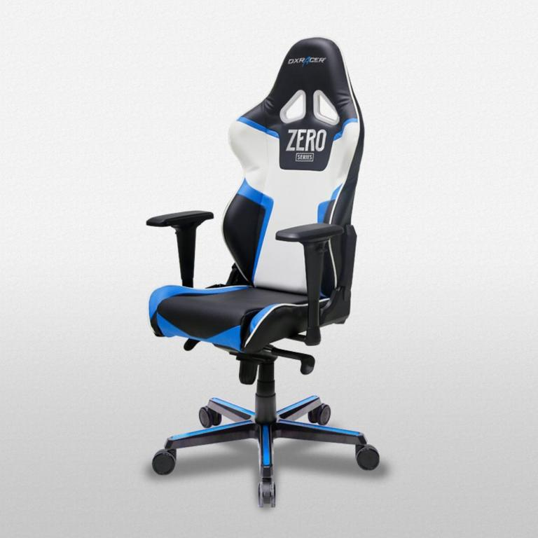DXRacer Racing Series Black, Blue and White - OH/RV118/NB with ZERO