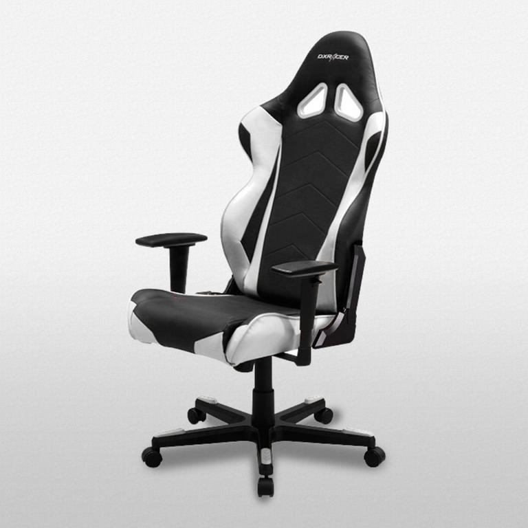 DXRacer Racing Series Black and White - OH/RE0/NW