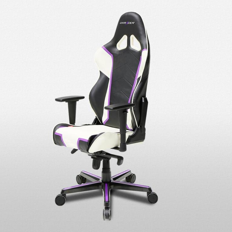 DXRacer Racing Series Black, White and Violet - OH/RH110/NWV