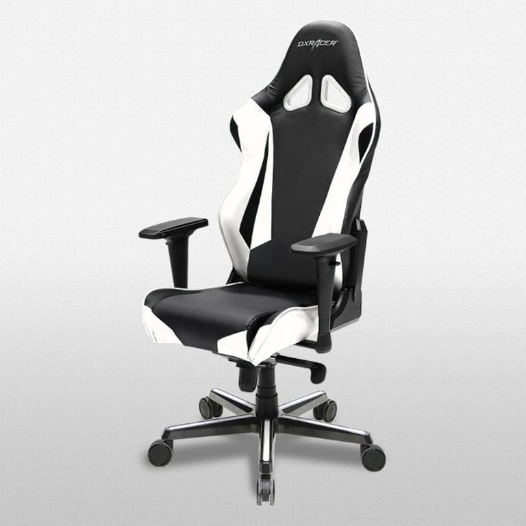 DXRacer Racing Series Black and White - OH/RV001/NW