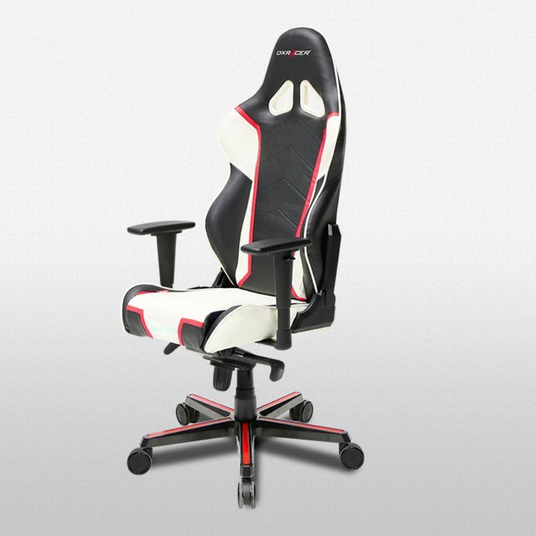 DXRacer Racing Series Black, White and Red - OH/RH110/NWR