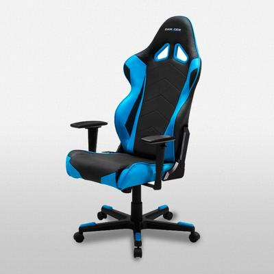 OH/RE0 Black/Blue Racing Series Gaming and Office Chair