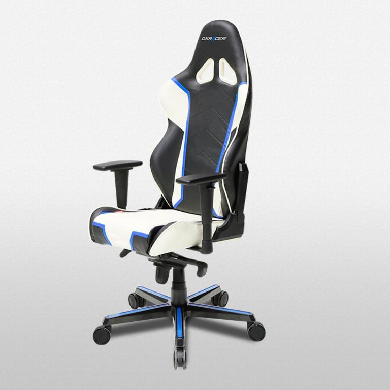 DXRacer Racing Series Black, White and Blue - OH/RH110/NWB
