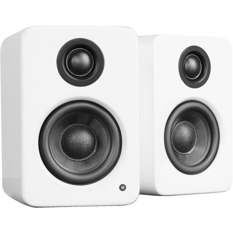 YU2 Gloss White Powered Desktop Speakers