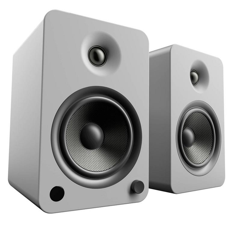 Kanto Living YU6 2-Way Powered Bookshelf Speakers Pair - Steel