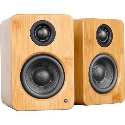 Kanto Living YU2 Powered Desktop Speakers - Bamboo