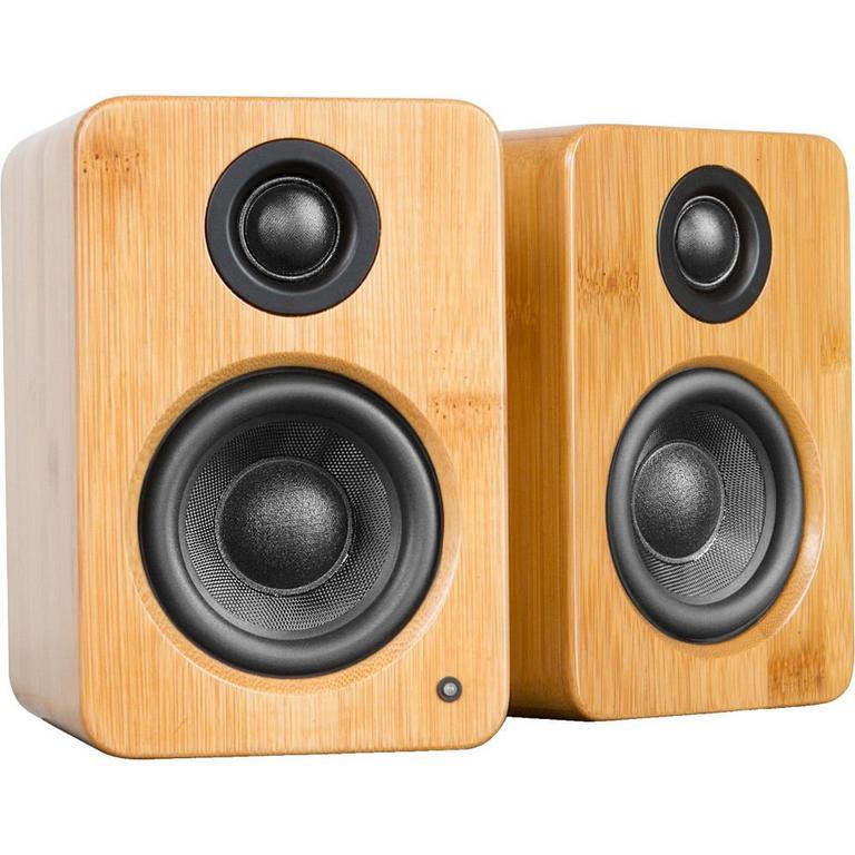 YU2 Bamboo Powered Desktop Speakers