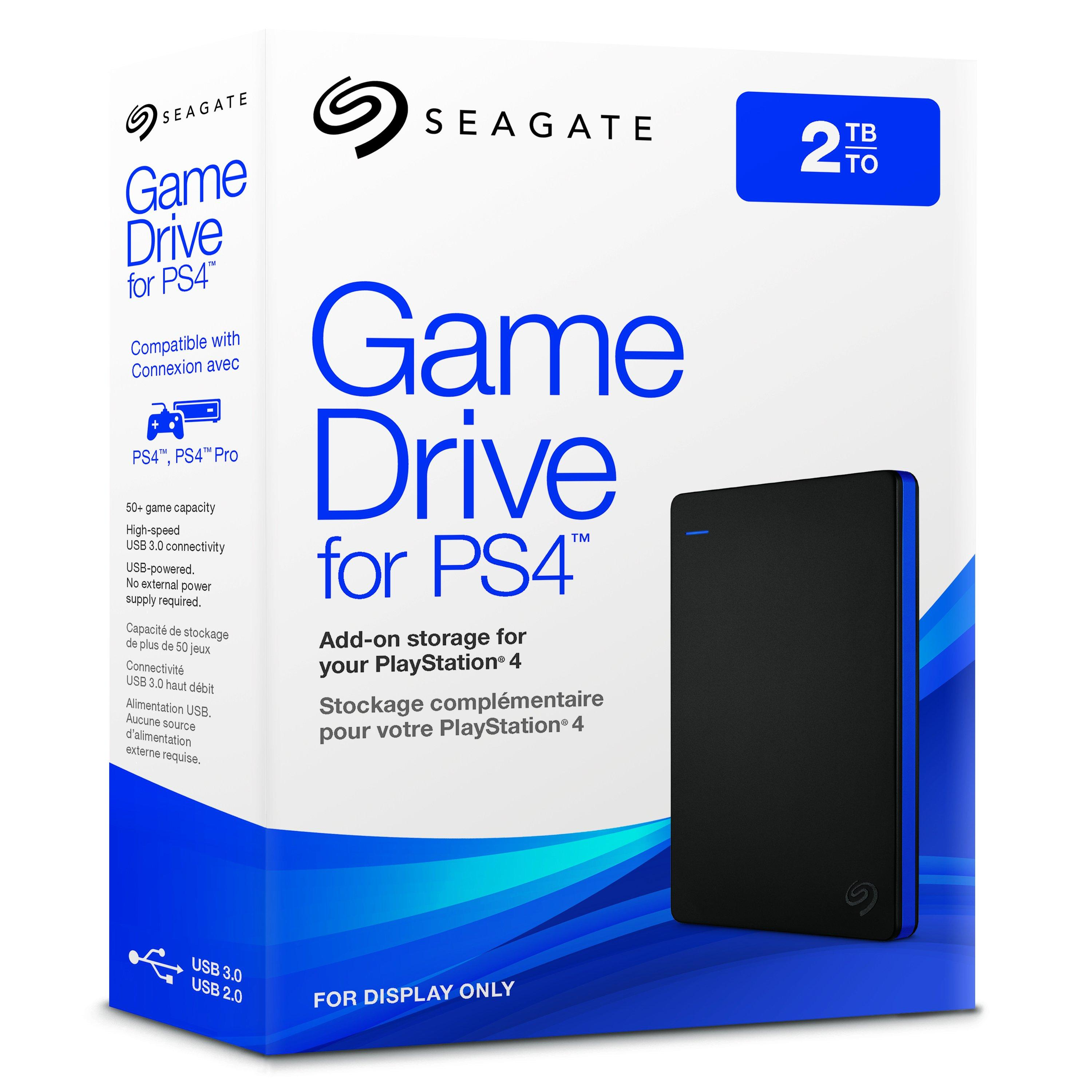 STGD2000400 Seagate 2TB Game Drive for PlayStation 4 Portable External USB HD
