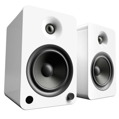 Kanto Living YU6 2-Way Powered Bookshelf Speakers Pair - Ice