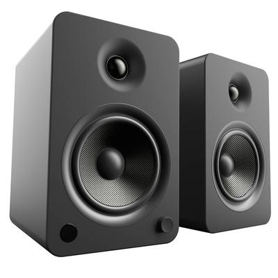 Kanto Living YU6 2-Way Powered Bookshelf Speakers Pair - Onyx