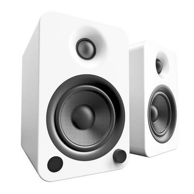 YU4 White 2-Way Powered Bookshelf Speakers