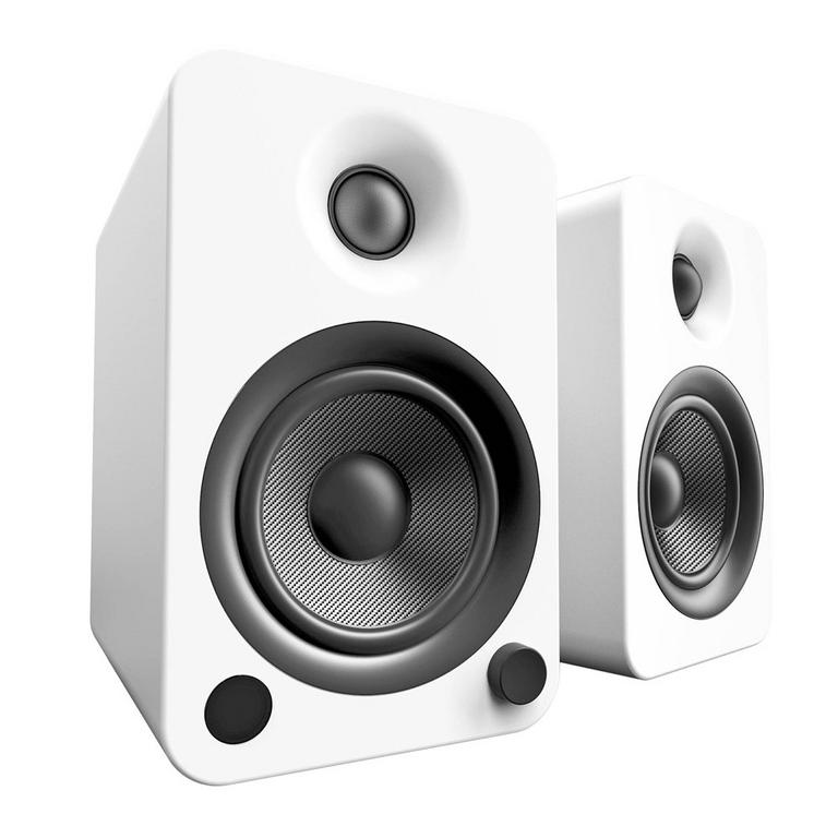 Kanto YU4 White 2-Way Powered Bookshelf Speakers Available At GameStop Now!
