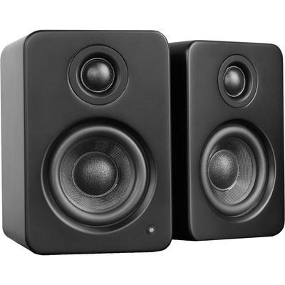 YU2 Matte Black Powered Desktop Speakers