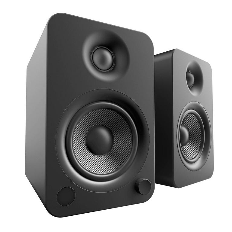 Kanto Living YU4 2-Way Powered Bookshelf Speakers Pair - Onyx