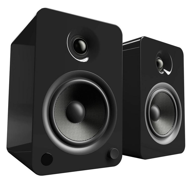Kanto Living YU6 2-Way Powered Bookshelf Speakers Pair - Obsidian