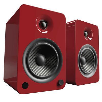 YU6 Crimson 2-Way Powered Bookshelf Speakers
