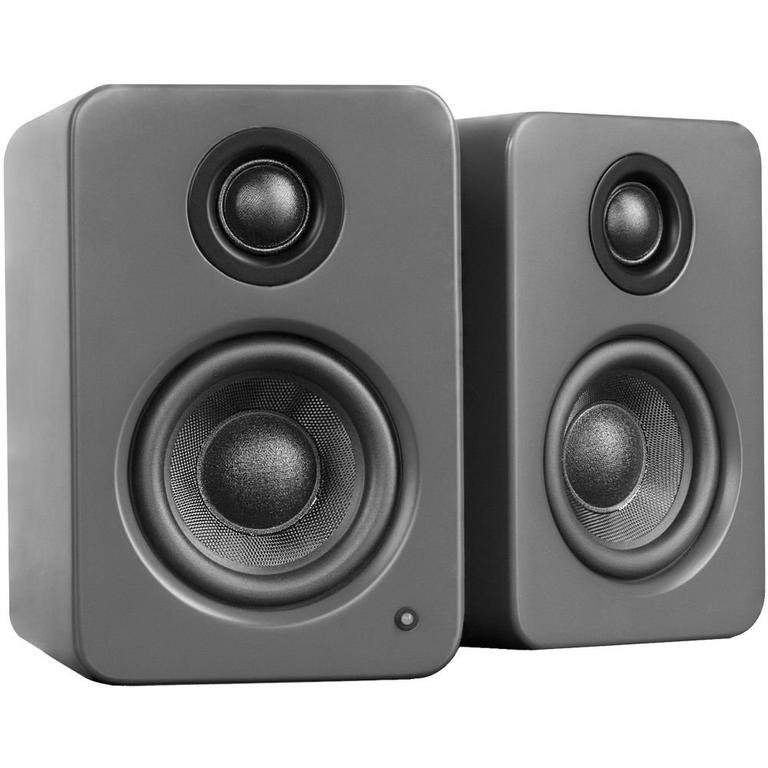 YU2 Matte Gray Powered Desktop Speakers