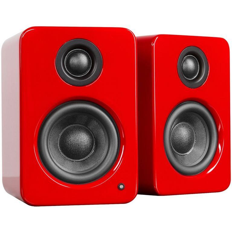 Kanto Living YU2 Powered Desktop Speakers - Gloss Red
