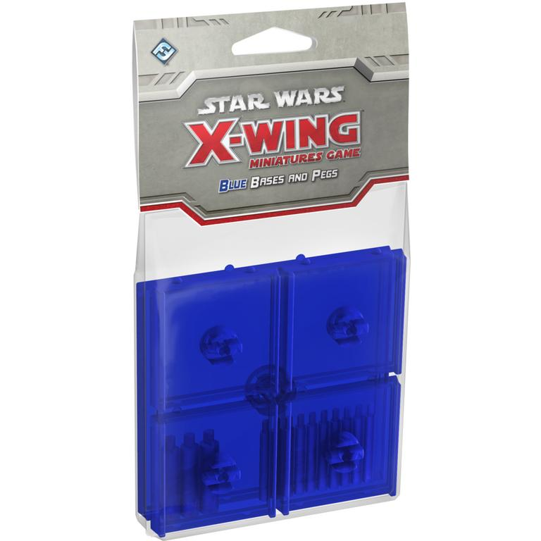 Star Wars X-Wing Miniatures Game: Blue Bases and Pegs Accessory Pack