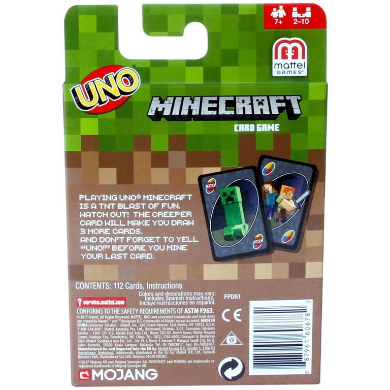 UNO Minecraft Card Game