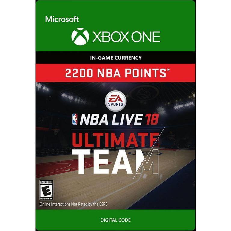 NBA Live 18 Ultimate Team 2,200 NBA Points