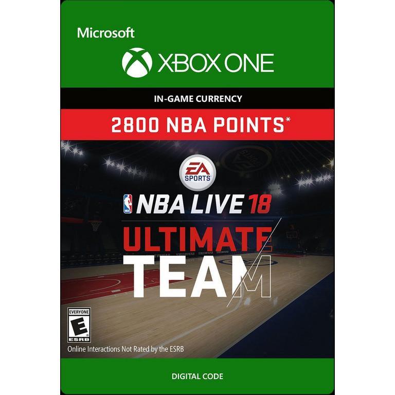 NBA Live 18 2800 Ultimate Team Points Digital Card