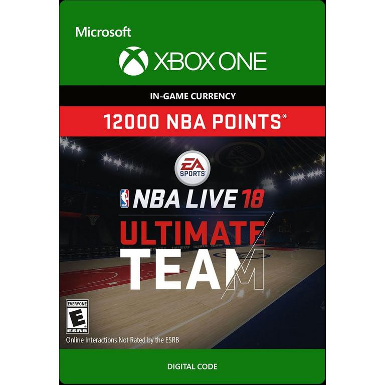 NBA Live 18 12000 Ultimate Team Points Digital Card